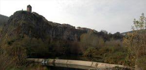 Panoràmica de la cinglera basàltica, Castellfollit de la Roca