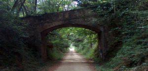 Petit túnel a la via verda del Carrilet d'Olot, les Planes d'Hostoles